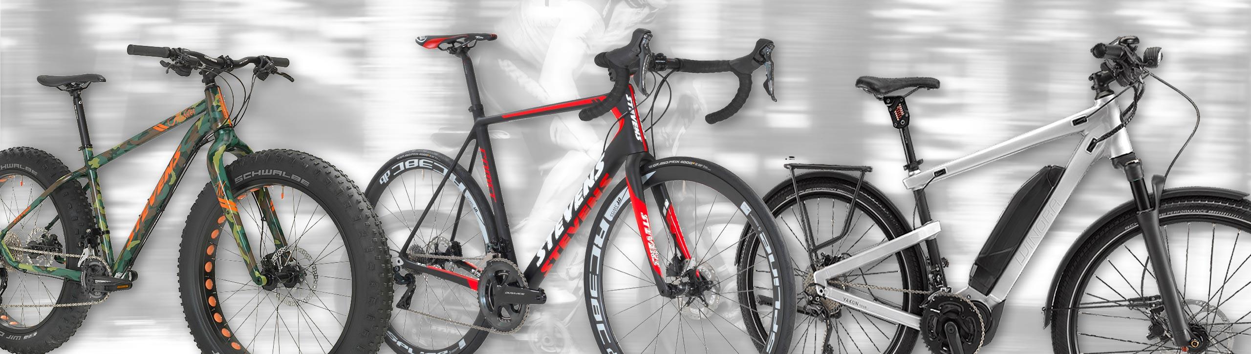 Mountain Bikes - Rennräder - Elektrobikes